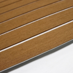 PE/EVA Foam Boat Flooring - Light Brown Over White