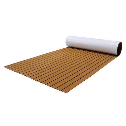 PE/EVA Foam Boat Flooring - Light Brown Over Black